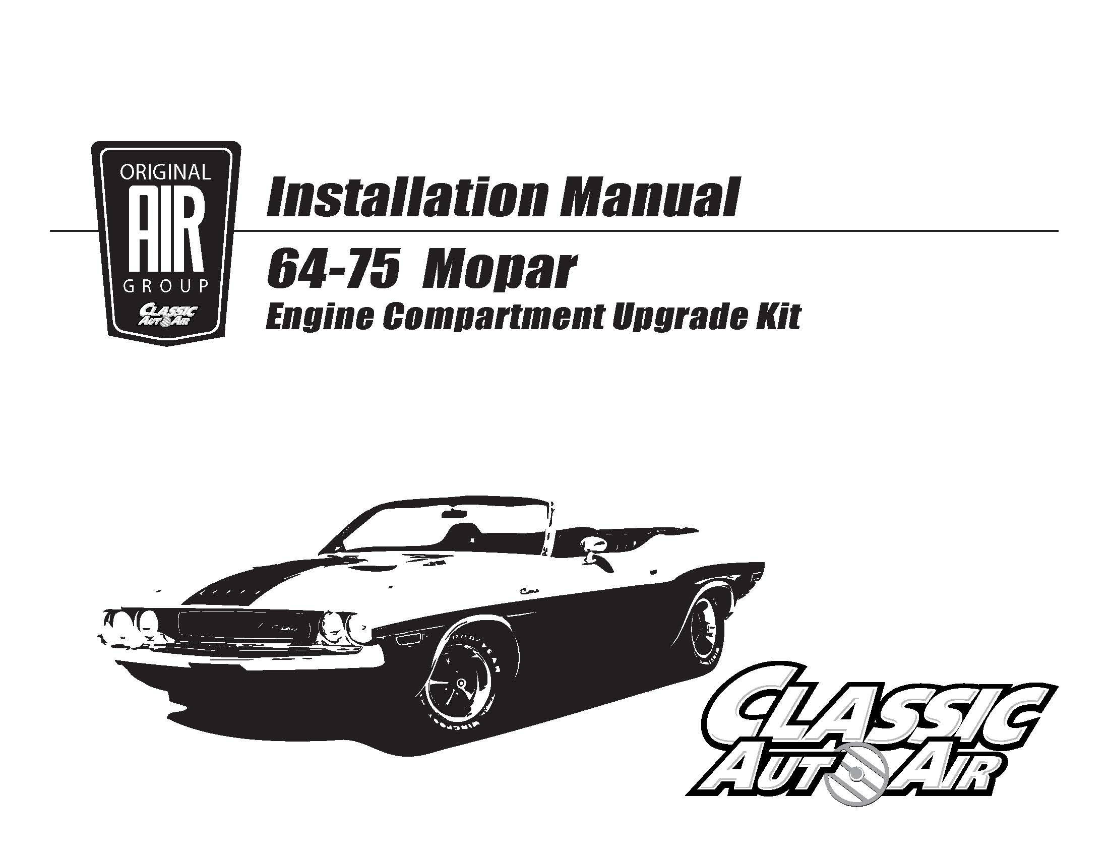 71 Charger 70 Barracuda A C Performance Upgrade Kit Big Block Plymouth Road Runner Engine Bay Diagram F