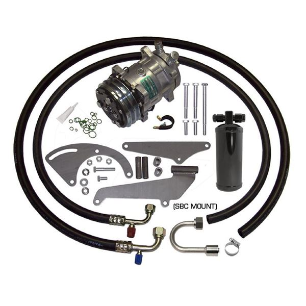 Mid-65-66 Chevy Impala A/C Compressor Performance Upgrade Kit V8 STAGE-1 (POA Vavle Equipped Cars)