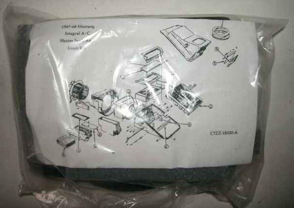67-68 Ford Evaporator Unit Plenum Foam Seal Kit