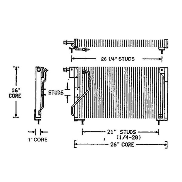73-74 Dodge/Plymouth B-Body A/C Condenser