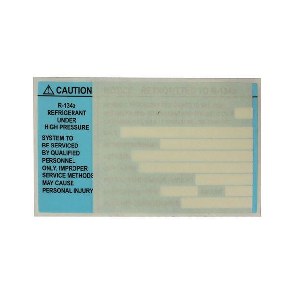 134a Conversion Information Decal (Retrofit Label)